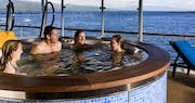Hot tub on the terrace of La Pinta, Galapagos