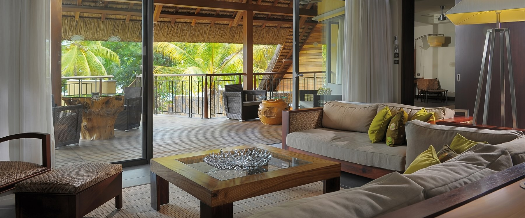 Villa living area at Trou Aux Biches Beachcomber Golf Resort & Spa, Mauritius