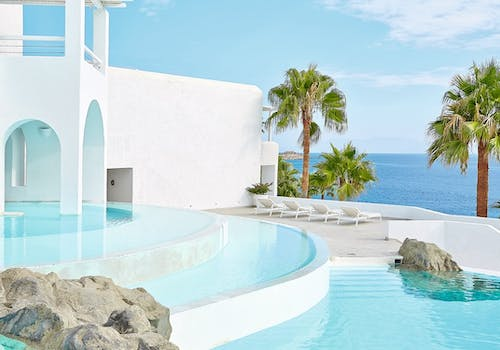 Private pool at Mykonos Blu, Greece