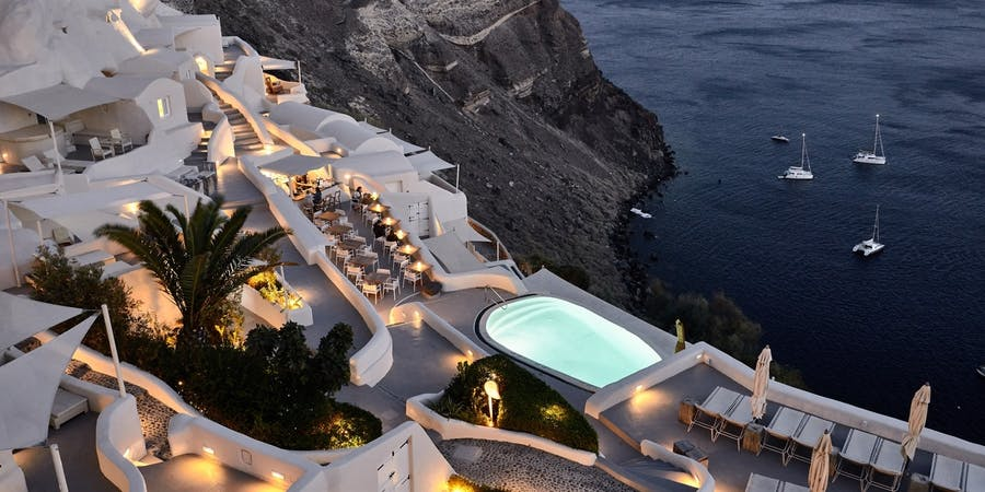 Overview, Mystique, Santorini, Greece