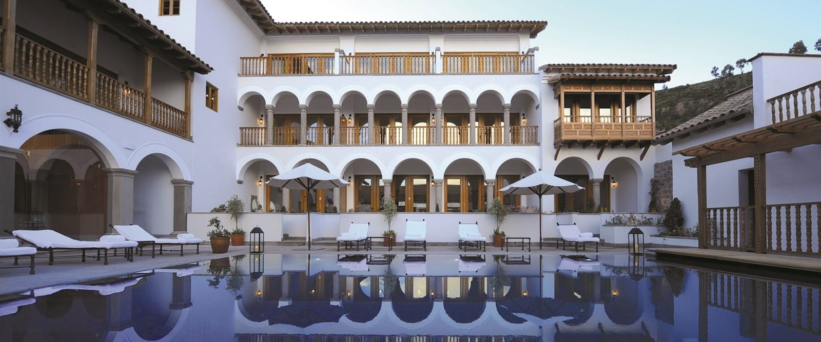 Pool area at Palacio Nazarenas, A Belmond Hotel, Cusco