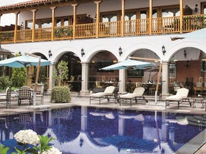 Swimming pool area at Belmond Palacio Nazarenas