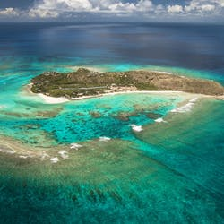 Aerial view of Necker Island, British Virgin Islands