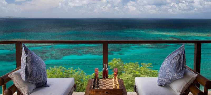 Play chess whilst overlooking the ocean at Necker Island, British Virgin Islands