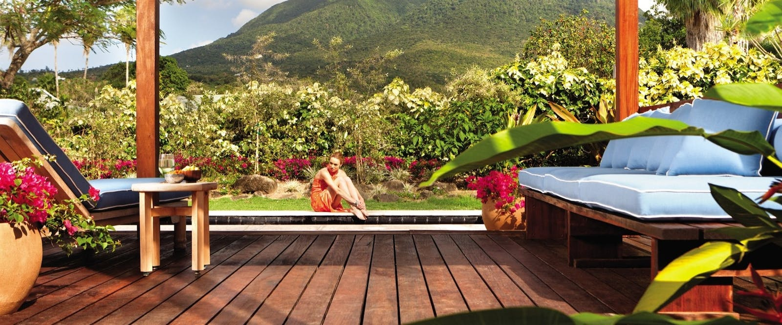 Relaxing at Four Seasons Resort Nevis