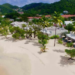 Aerial view of Spice Island Beach Resort, Grenada