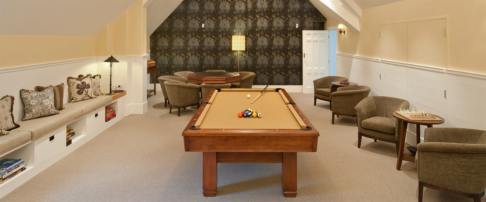 Games RoomLounge at Wharekauhau Country Estate, Palliser Bay