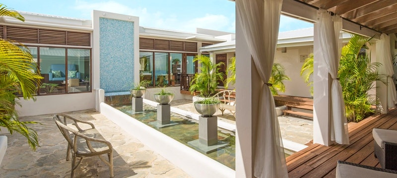 Tranquil spa area at Spice Island Beach Resort, Grenada
