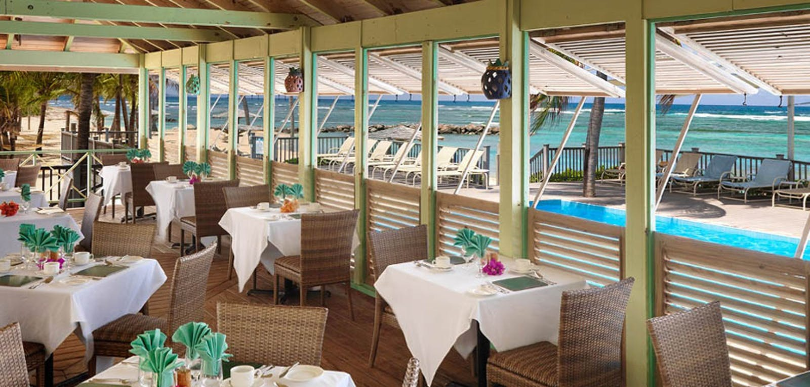 Restaurant at Nisbet Plantation Beach Club, Nevis