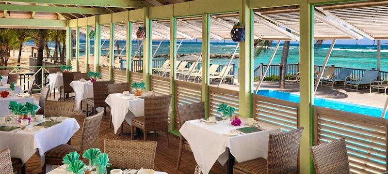 Restaurant at Nisbet Plantation Beach Club, Nevis
