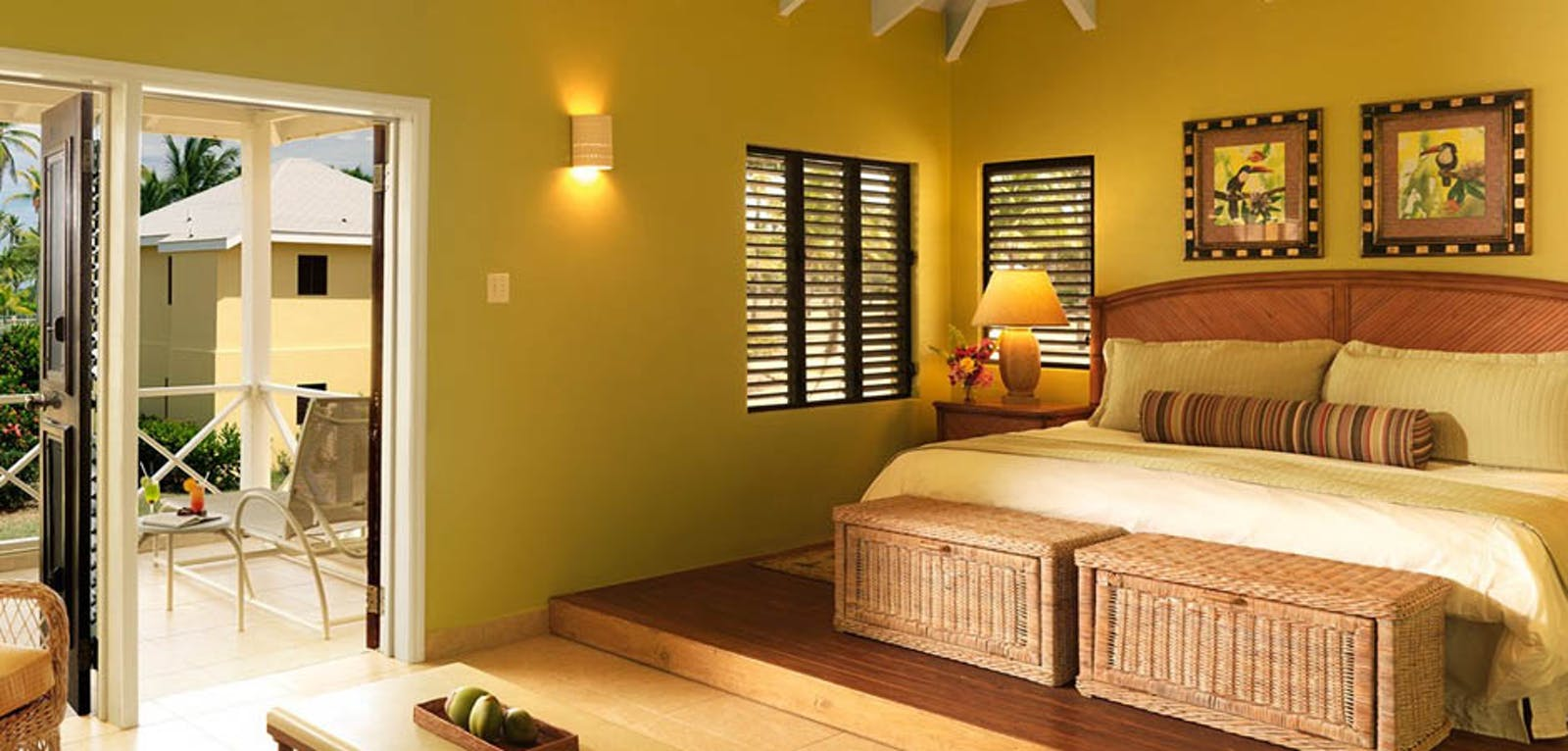 Bedroom with Garden Biew at Nisbet Plantation Beach Club, Nevis