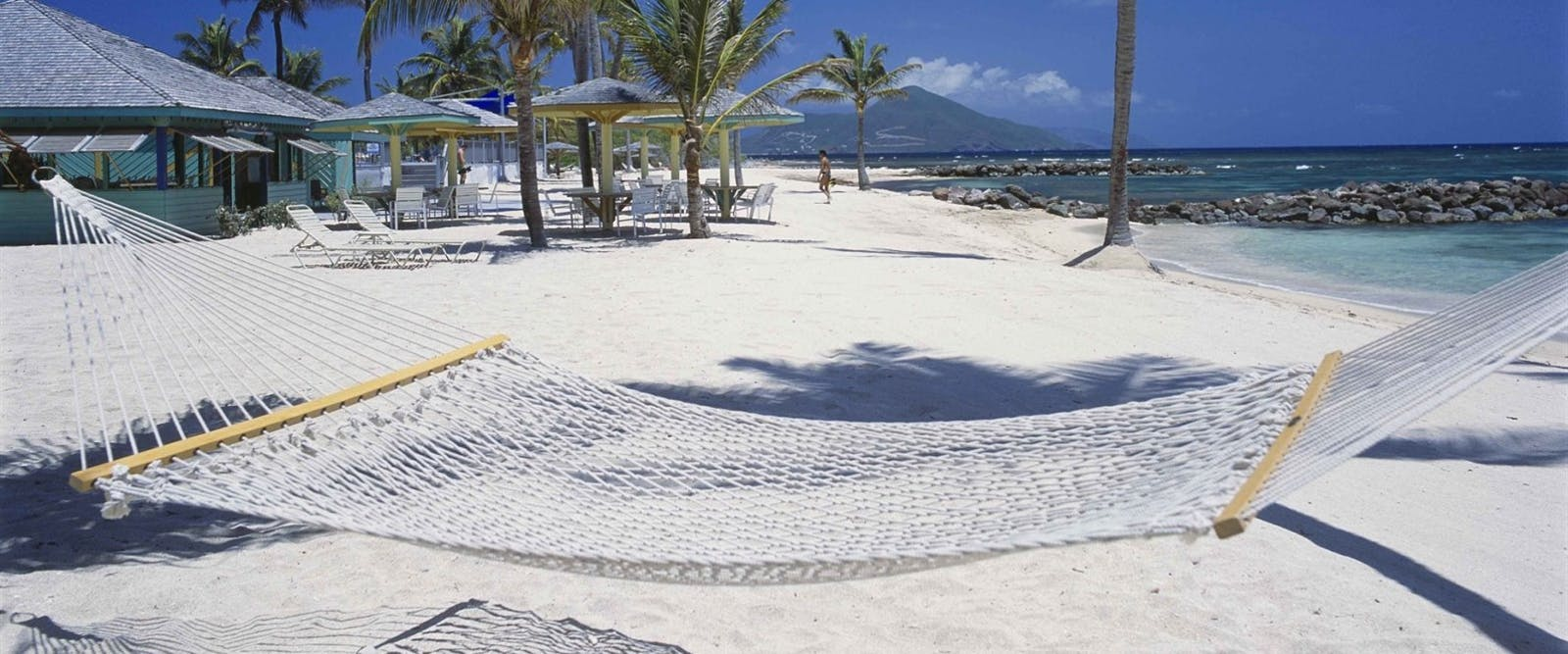 Unwind in a Hammock on The Shore at Nisbet Plantation Beach Club, Nevis