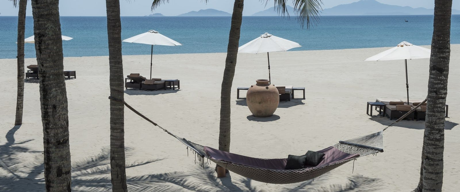 The beach at Four Seasons Resort The Nam Hai, Hoi An, Vietnam