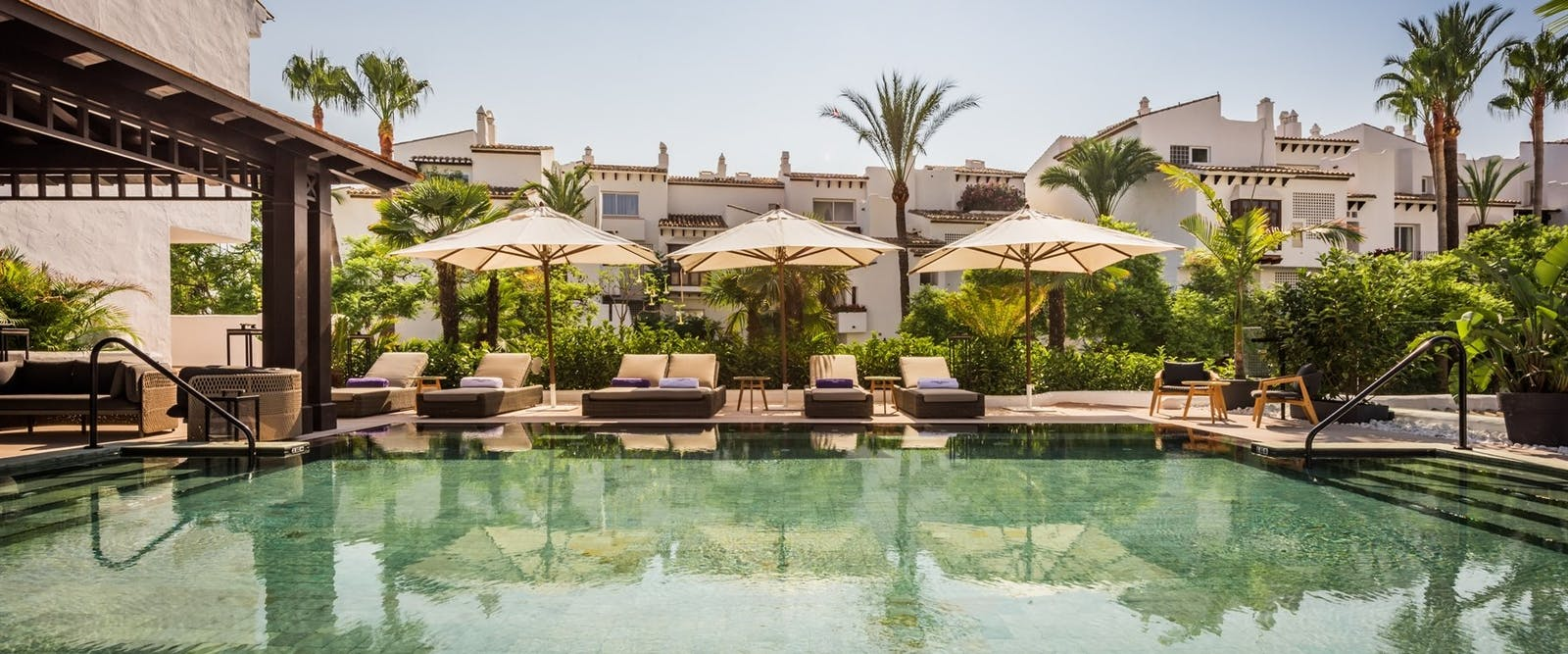 Swimming Pool at Nobu Marbella, Costa Del Sol, Spain
