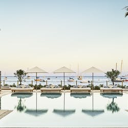 pool and dining area at nobu hotel ibiza bay