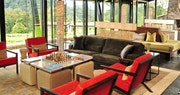 Lounge at Nyungwe Forest Lodge, Rwanda