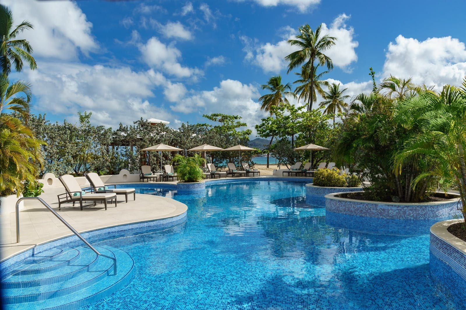 Oasis Swimming Pool with Swim up Jacuzzi at Spice Island Beach Resort, Grenada