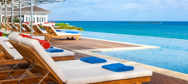 Serene swimming pool overlooking the ocean at One&Only Ocean Club, Bahamas