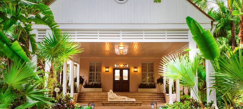 The exterior of the entrance at One&Only Ocean Club, Bahamas