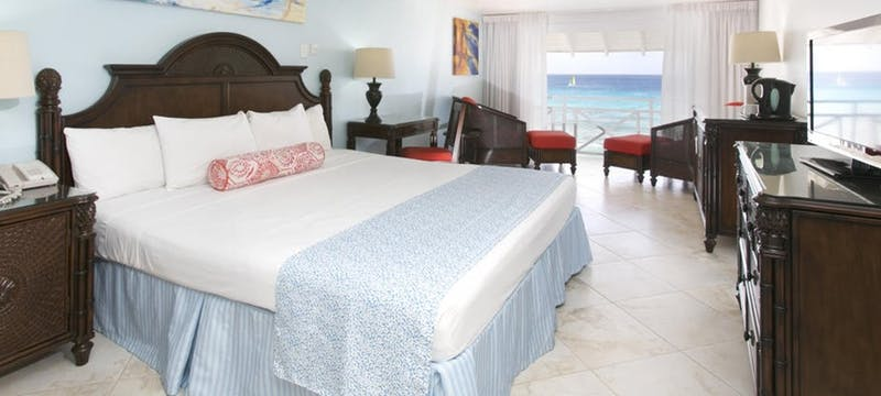Ocean front bedroom at The Club Barbados Resort & Spa, Barbados