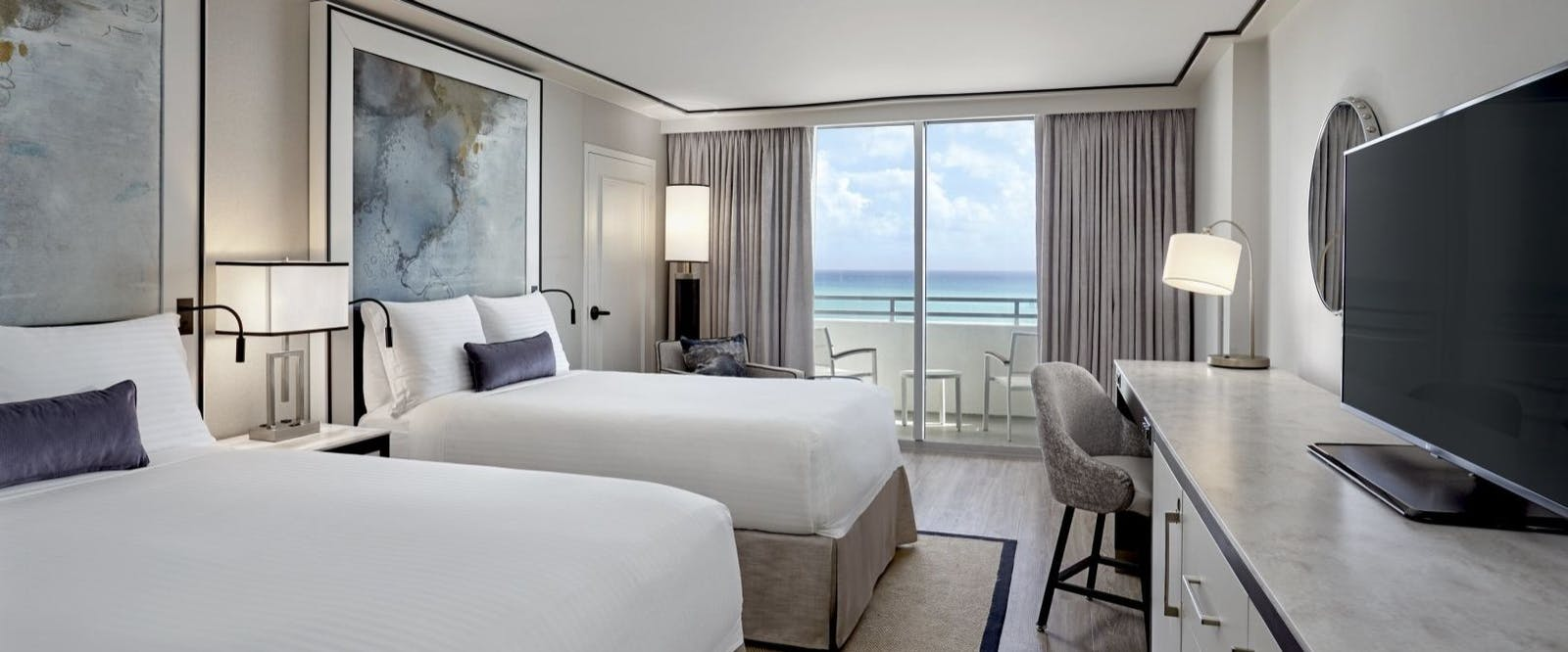 ocean front two doubles at loews miami beach