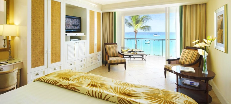 Oceanfront deluxe room at The Fairmont Royal Pavilion, Barbados