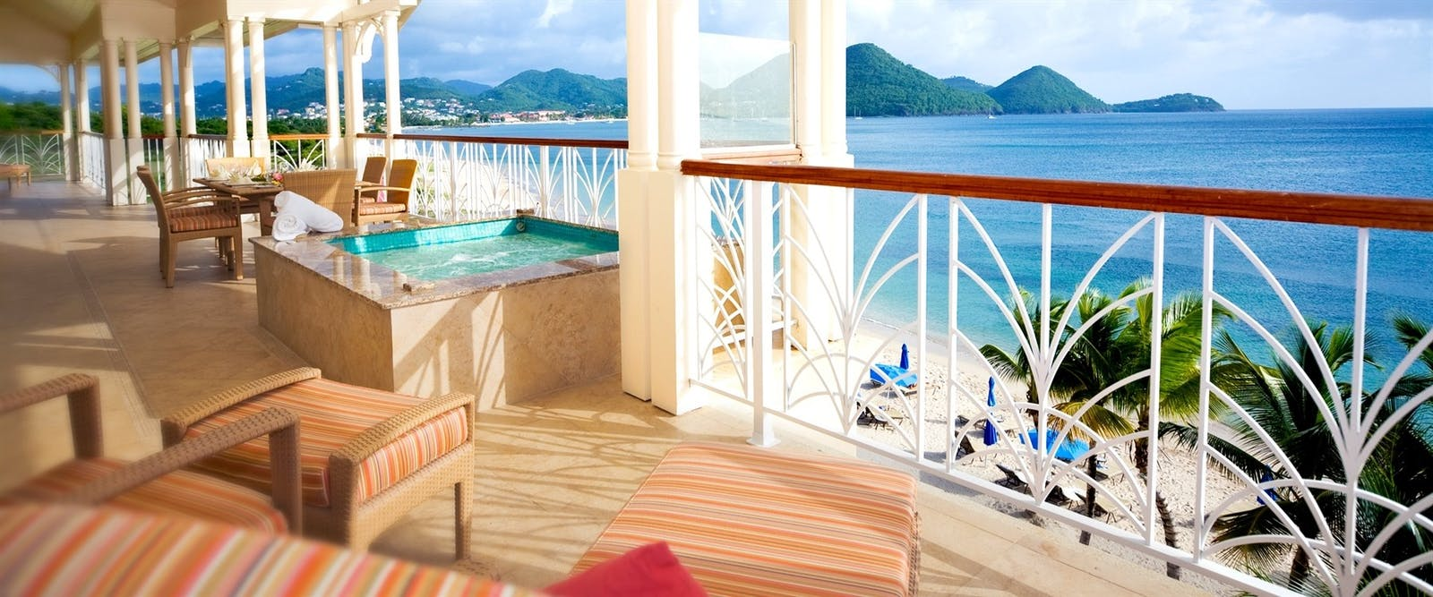 Terrace at The Landings Resort and Spa by Elegant Hotels, St Lucia