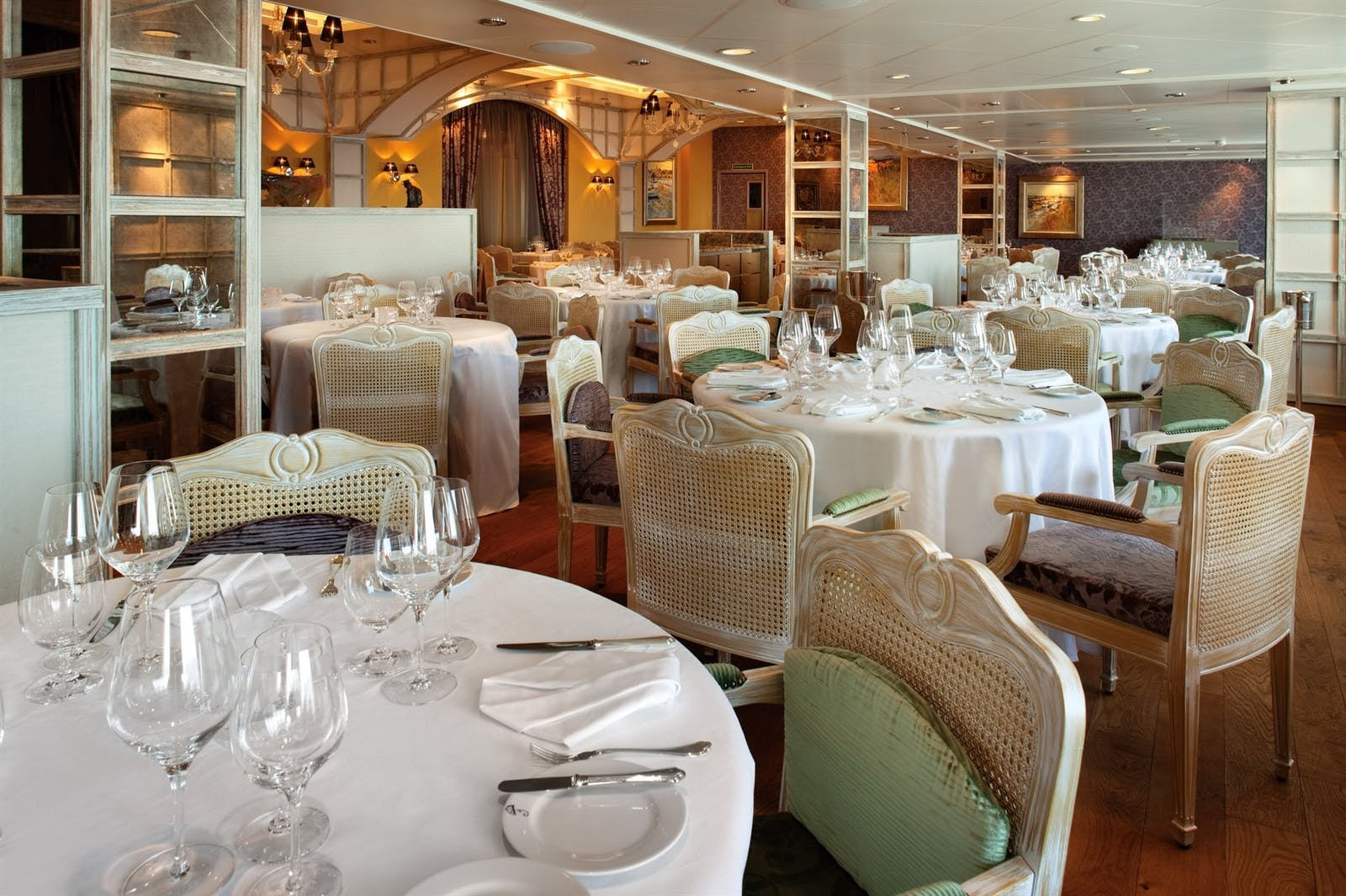 Dining Area on the Oceania Riveria