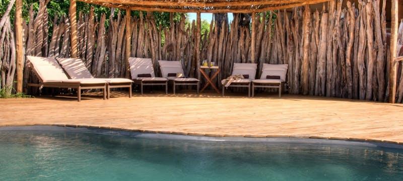 Pool area at Okuti Camp
