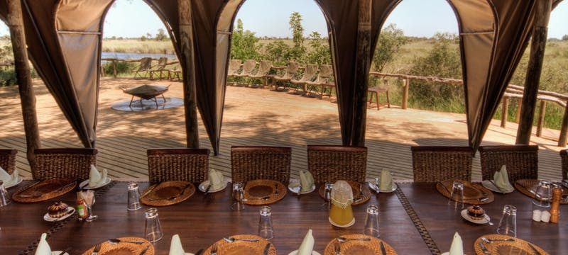 Restaurant at Okuti Camp