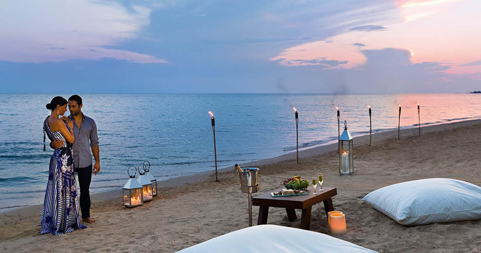 Private Dining on the Beach at Ikos Olivia, Halkidiki, Greece