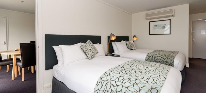 Twin bedroom at Scenic Hotel Te Pania, Napier & Hawke's Bay