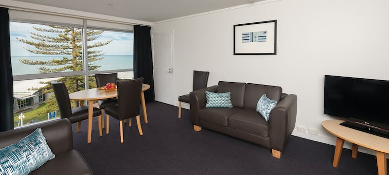 One bedroom suite at Scenic Hotel Te Pania, Napier & Hawke's Bay