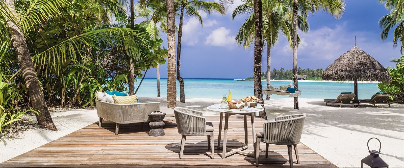 Beach Villa Outdoor Deck at One&Only Reethi Rah, Maldives, Indian Ocean