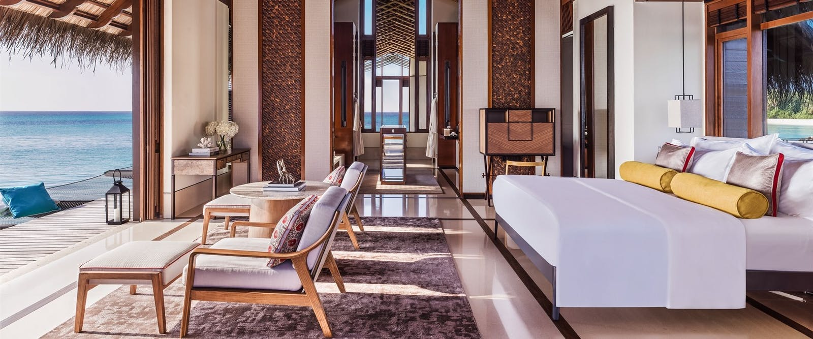 Grand Water Villa Master Bedroom at One&Only Reethi Rah, Maldives, Indian Ocean