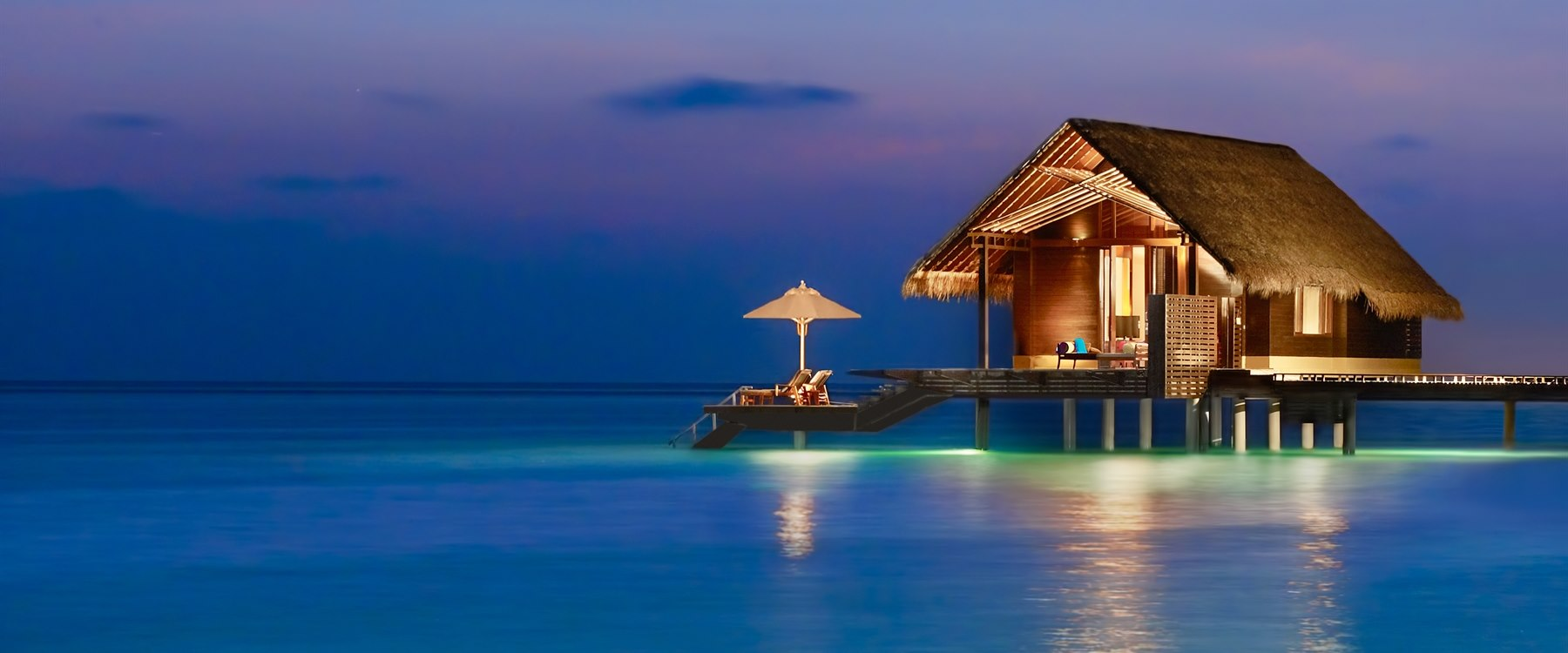 Water villa exterior at One&Only Reethi Rah, Maldives
