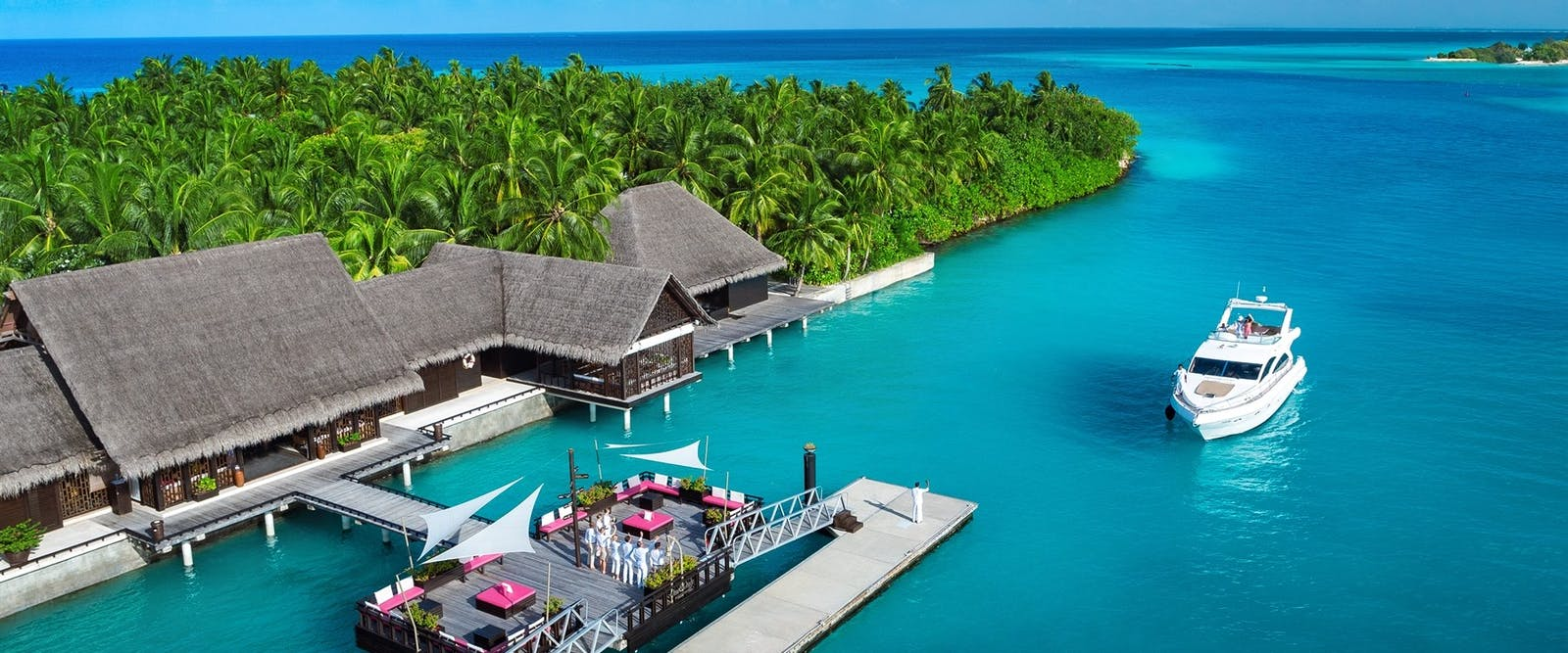 Arrival jetty at One&Only Reethi Rah, Maldives, Indian Ocean