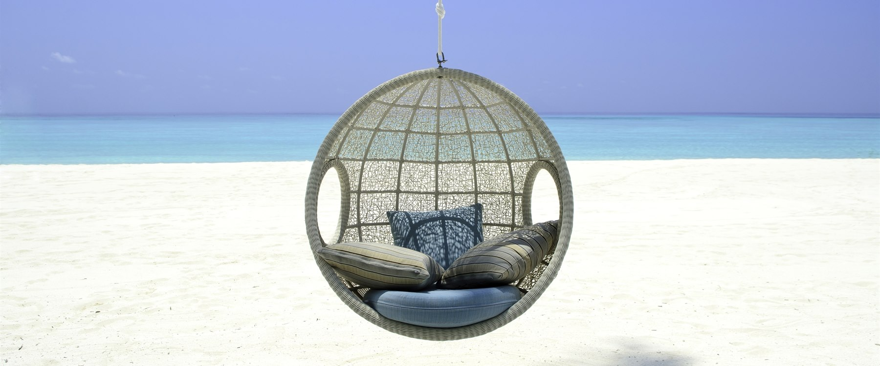 Beach club at One&Only Reethi Rah, Maldives