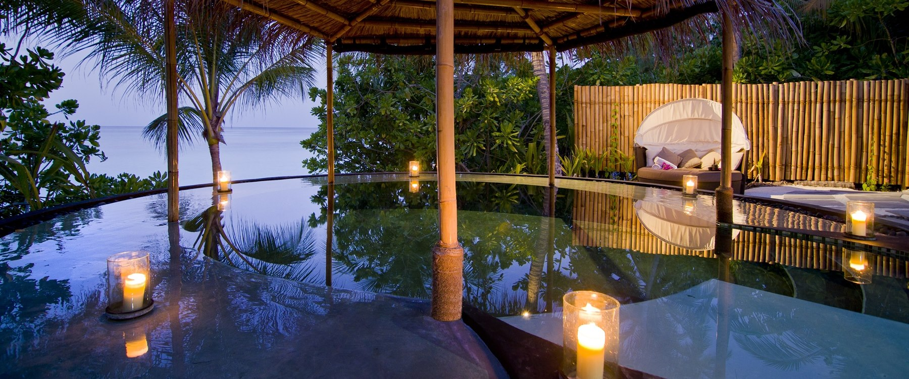 Reethi spa watsu pool at One&Only Reethi Rah, Maldives