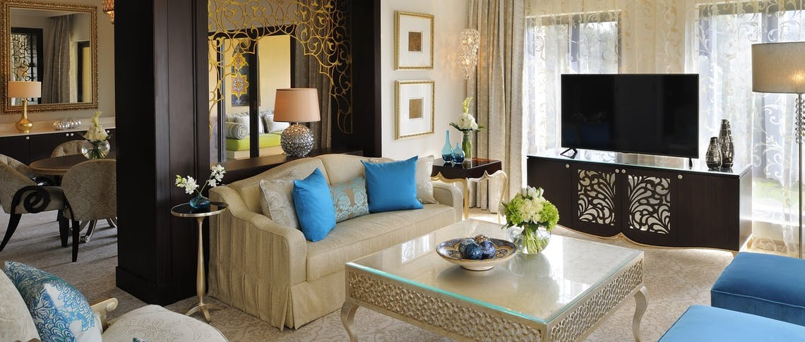 Executive suite living room at One&Only Royal Mirage - Arabian Court, Dubai