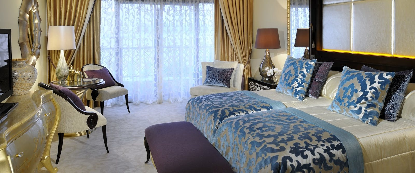 Royal Suite Guest Bedroom at One&Only Royal Mirage - The Palace, Dubai