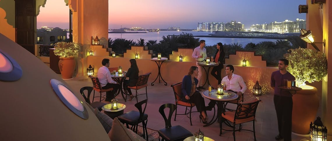 The rooftop terrace at One&Only Royal Mirage - Arabian Court, Dubai