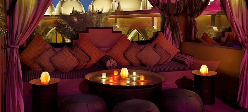 The rooftop terrace and sports bar at One&Only Royal Mirage - Arabian Court, Dubai