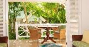 One bedroom garden suite balcony at Little Good Harbour, Barbados
