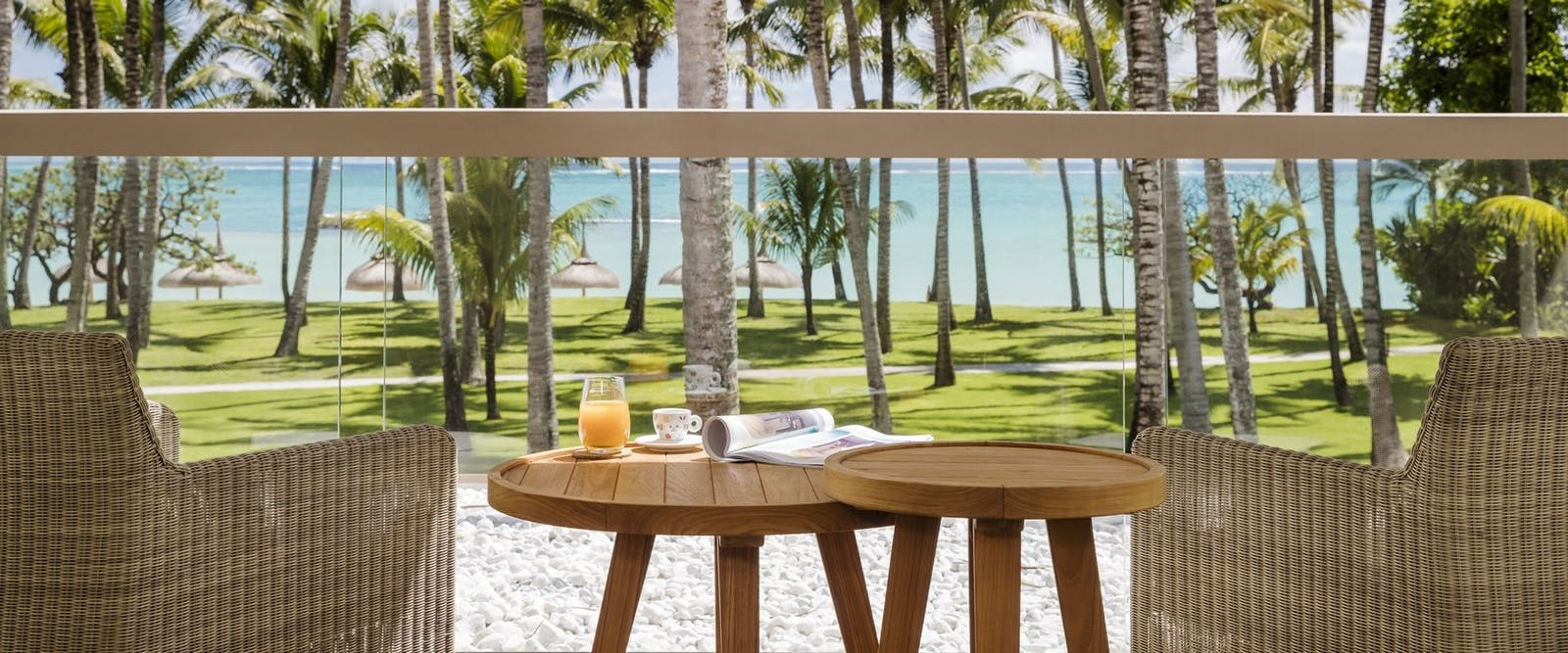 Ocean Room Balcony at One&Only Le Saint Geran, Mauritius