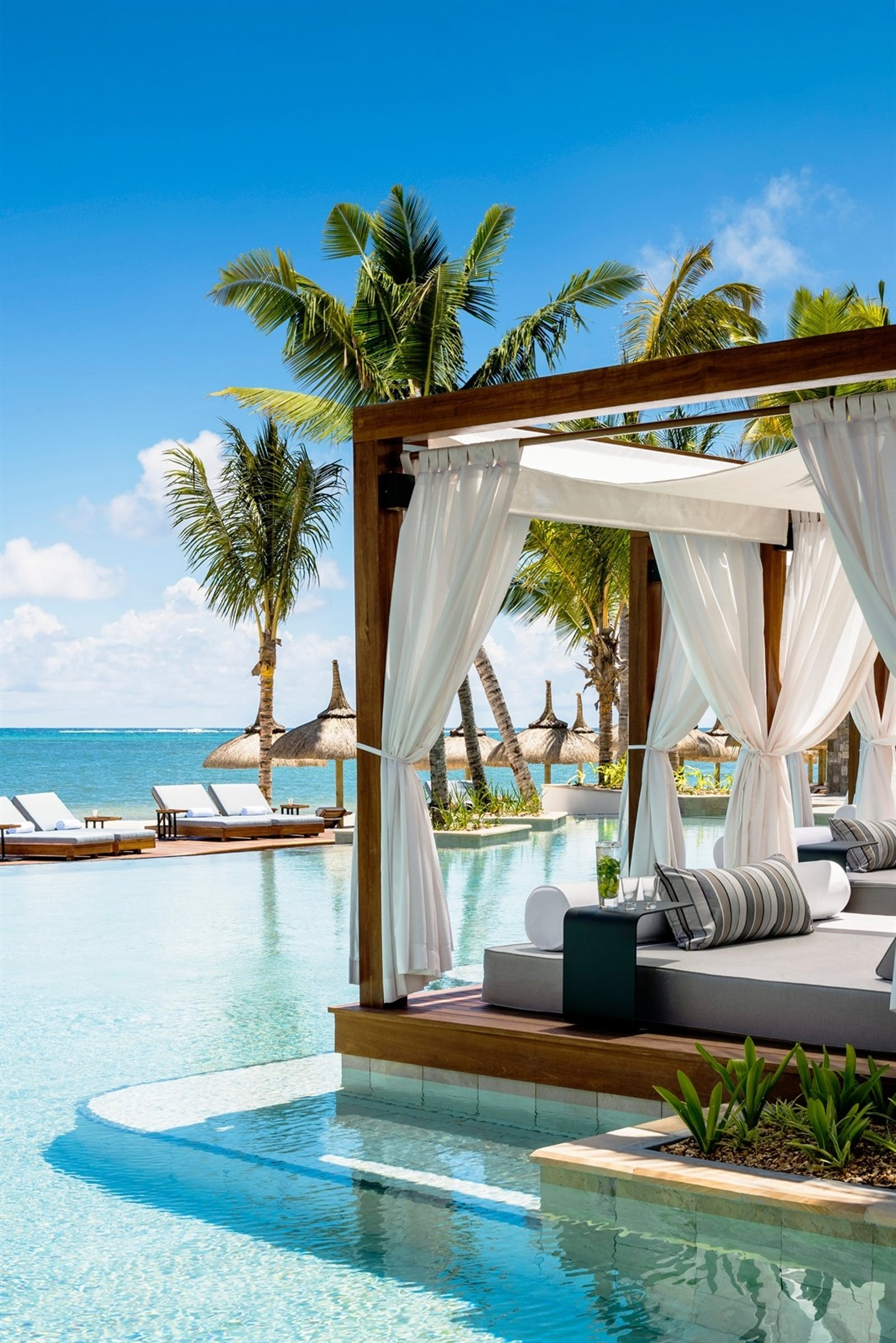 La Pointe Cabanas Pool Extension at One&Only Le Saint Geran, Mauritius