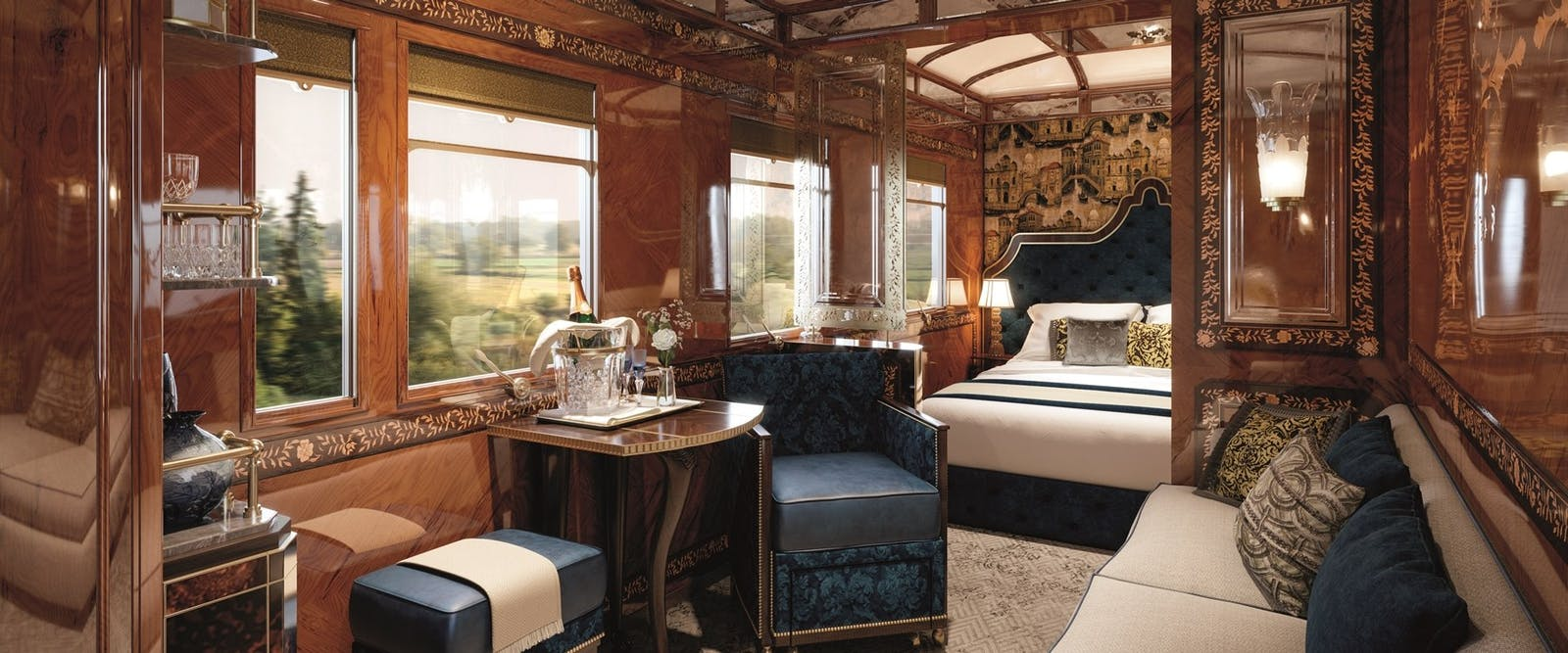 Spacious rooms on board Venice Simplon-Orient-Express, Venice, Italy