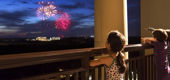 Firework Display at Four Seasons Resort Orlando at Walt Disney World Resort, Florida