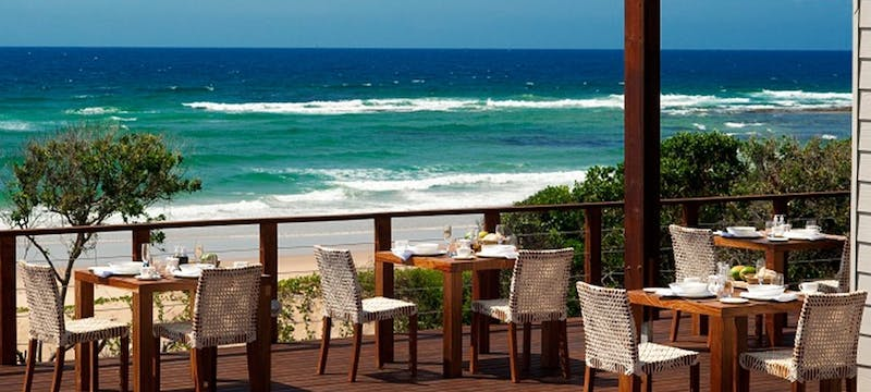 Outdoor dining at White Pearl Resort