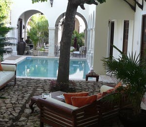 Pool area at Casa Lecanda Boutique Hotel
